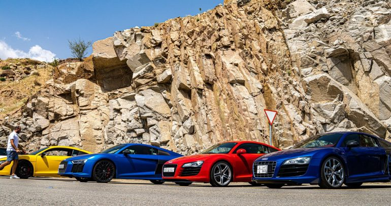 """بتنظيم من أودي السعودية: التجمع الأكبر لسيارات أودي """"R8"""" في الشرق الأوسط"""