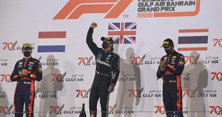 لويس هاملتون يخطف لقب سباق جائزة البحرين الكبرى للفورمولا وان 2020