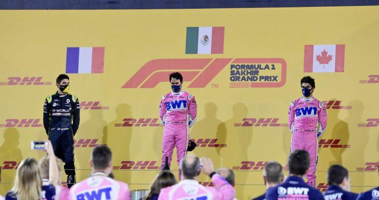 سيرجيو بيريز يحقق أول فوز له في سباق جائزة الصخير الكبرى للفورمولا وان 2020