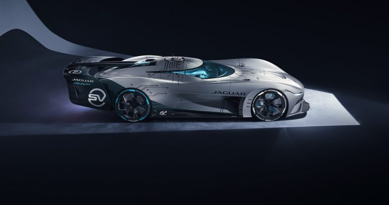 """جاكوار """"فيجن جي تي إس ڤي"""": سيارة سباقات التحمل الافتراضية الكهربائية بالكامل"""