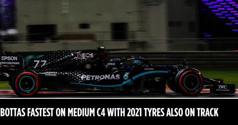 التجارب الحرّة للفورمولا 1 بأبوظبي 2020: بوتاس الأسرع مع إطارات سي 4 المتوسطة