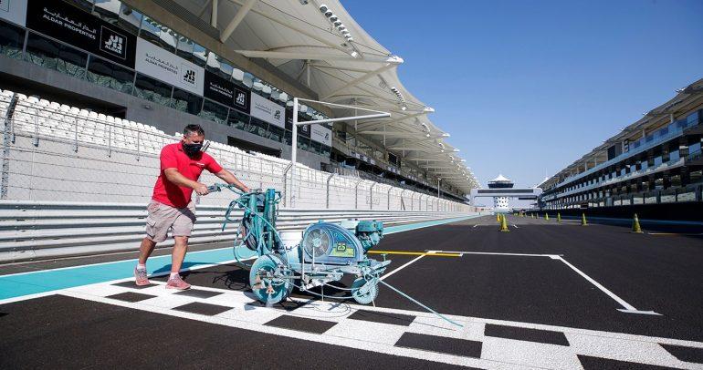 حلبة مرسى تستعد لاستضافة سباق الجائزة الكبرى للفورمولا1 أبوظبي لعام 2020