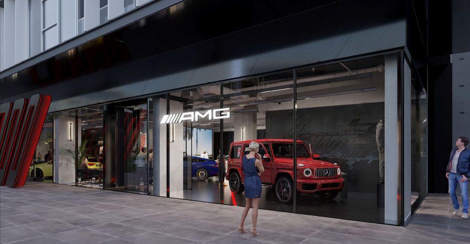 """متجر لسيارات مرسيدس """"AMG"""""""