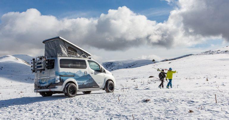 بالصور: نيسان e-NV200 المركبة الكهربائية الاختبارية للمغامرات الشتوية