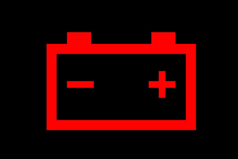 ضوء تحذير بطارية السيارة