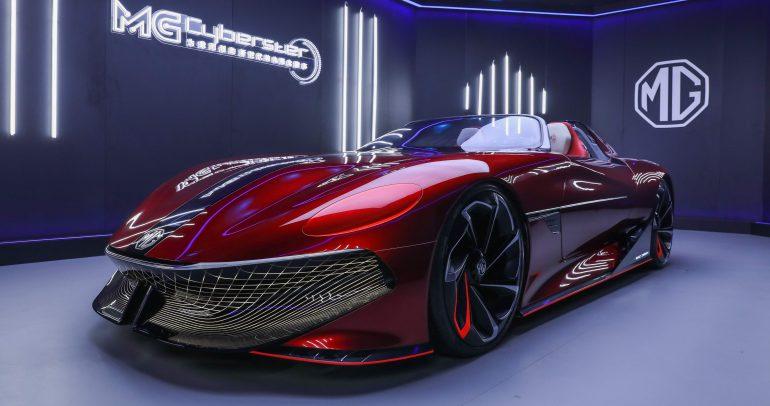 """إم جي تكشف عن سيارة Cyberster النموذجية الكهربائية في """"شنغهاي 2021"""""""