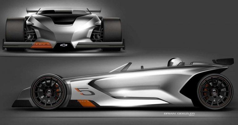 شيفروليه تكشف عن تصاميم لسيارة سباق بمقعد واحد