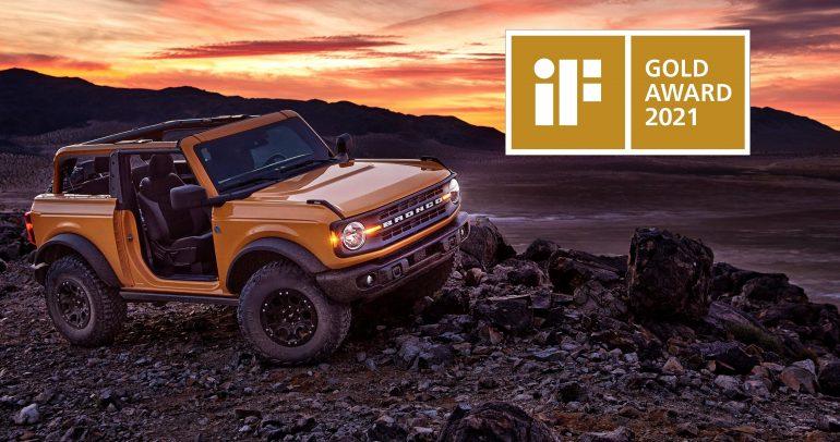 فورد برونكو الجديد كلياً يحصد جائزة iF الذهبية للتصميم لعام 2021
