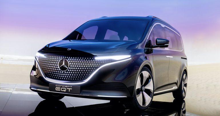 سيارة Concept EQT.. أول سيارة فاخرة في فئة مركبات الڤان الصغيرة