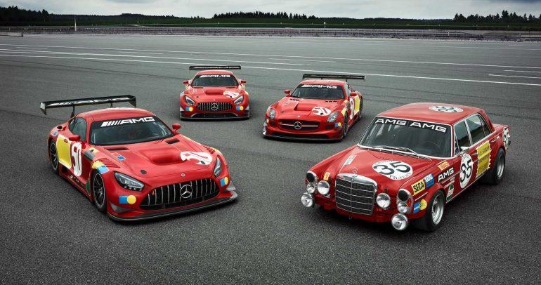 """مرسيدس AMG تطلق 3 سيارات سباق احتفالاً  بـ""""ريد بيج"""" الأسطورية"""