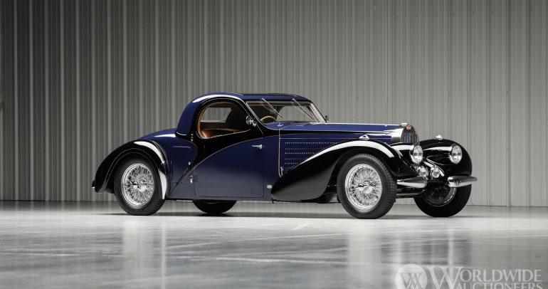 بوجاتي تايب 57 سي أتالانت كوبيه لعام 1938 النادرة للغاية تذهب للبيع في المزاد