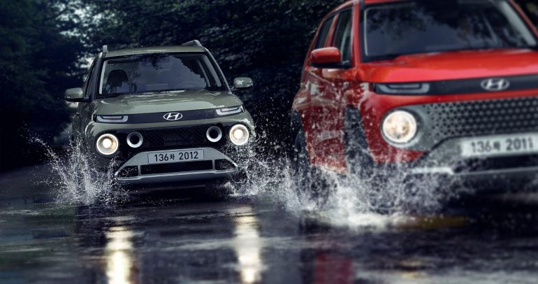 الصور الرسمية الأولى لسيارة هيونداي كاسبر.. ميني أس يو في