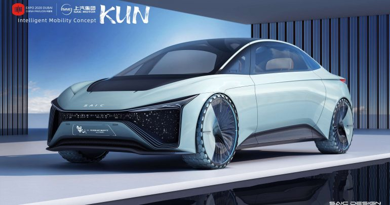 سايك تكشف عن سيارة KUN النموذجية خلال 'إكسبو 2020 دبي'