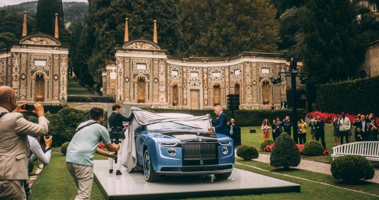 """سيارة """"بوت تيل"""" الاستثنائية من كوتشبيلد في أول ظهور علني لها في كونكور دي إليجانزا في فيلا ديستي"""
