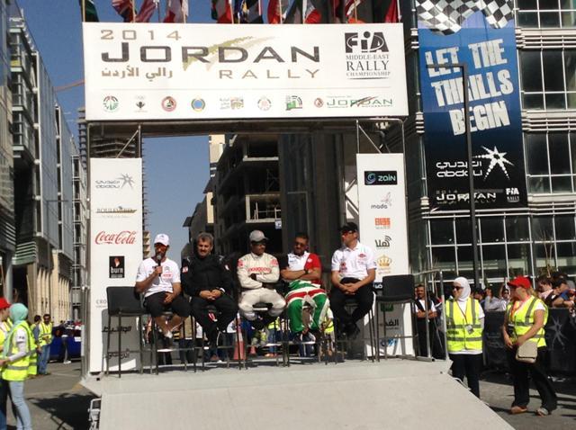 Jordan Rally pre event PC at the podium in Abdali..jpg